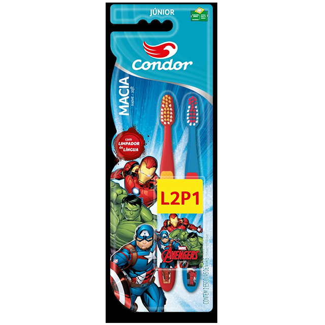 Escova Dental Infantil Condor Vingadores