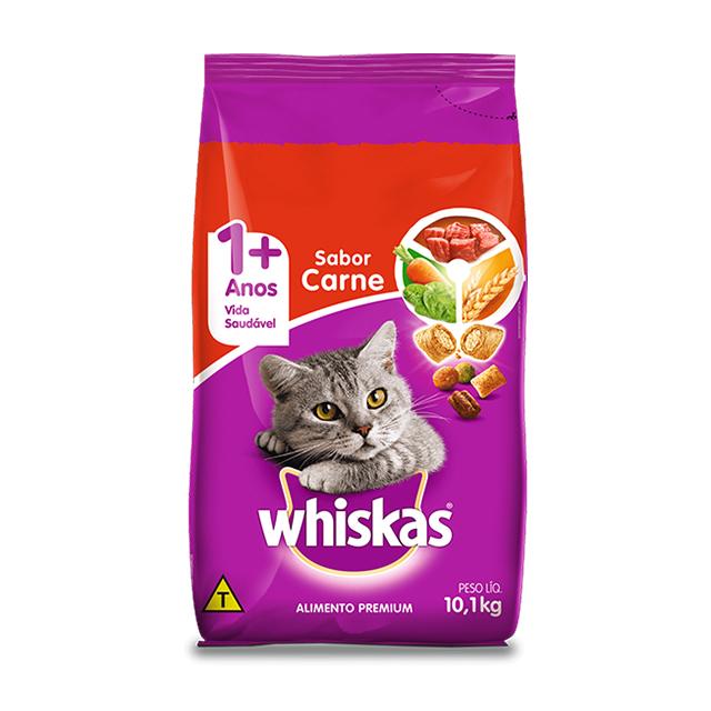 Ração para Gatos Whiskas Carne 10,1kg