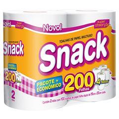 Papel Toalha Snack | Com 2 Unidades Cada Uma Com 100 Folhas