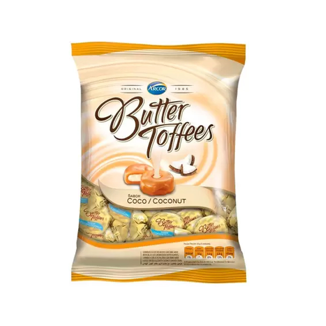 Bala Recheada Arcor Butter Toffees Coco 500g