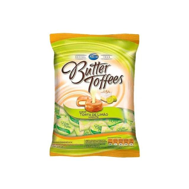 Bala Recheada Arcor Butter Toffees Limão 500g