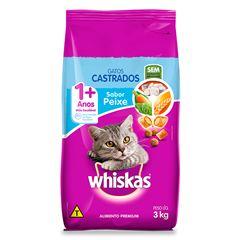 Ração Para Gatos Whiskas Castrados Peixe 3kg
