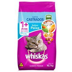 Ração Para Gatos Whiskas Castrados Peixe 10.1kg
