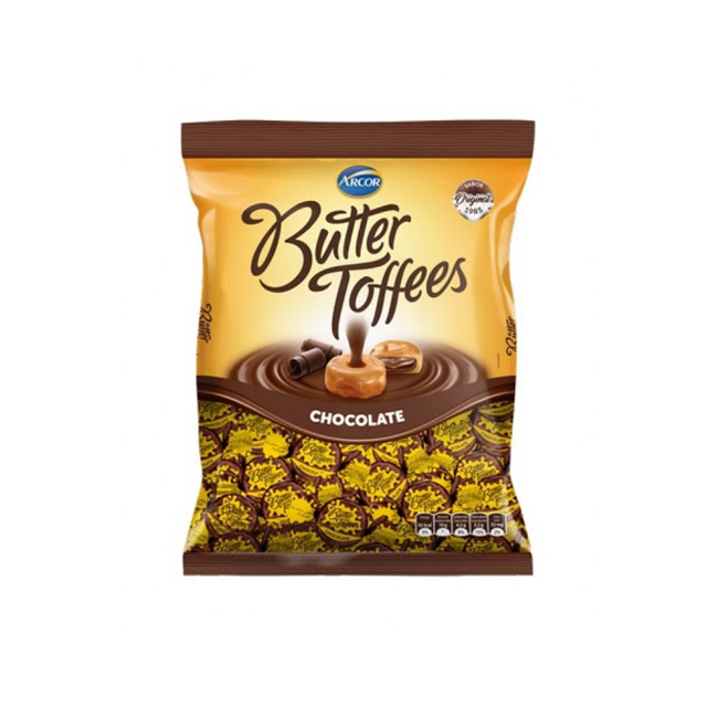 Bala Recheada Arcor Butter Toffees Chocolate 500g