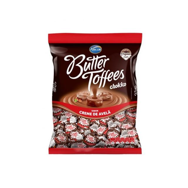 Bala Recheada Arcor Butter Toffees Creme De Avelã 500g