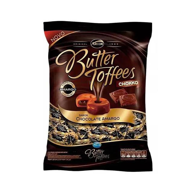 Bala Recheada Arcor Butter Toffees Chokko Amargo 500g