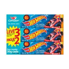 Gel Dental Infantil Condor Hot Wheels Bambinos 3 50g Lv3pg2