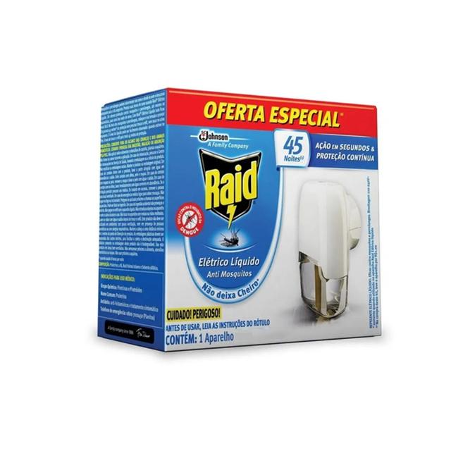 Repelente Elétrico Líquido Raid Family Anti Mosquitos 1 Aparelho 32,9 Ml