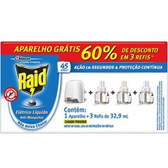 Raid Eletrico. 45n Aparelho + 3 Refil