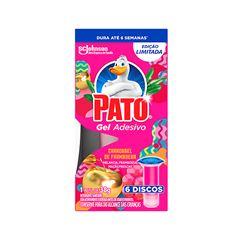 Desodorizador Sanitário Pato Gel Adesivo Refil Carrossel 6 Unidades