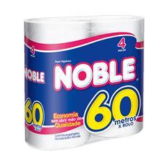 Papel Higiênico Softys Noble  Folha Simples 60m Com 4 Unidades