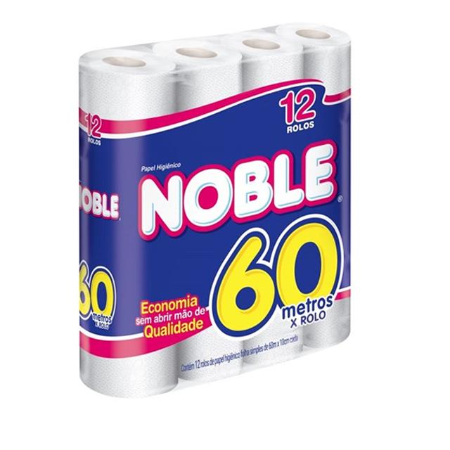 Papel Higiênico Softys Noble  Folha Simples 60m Leve 12 Pague 11 Unidades
