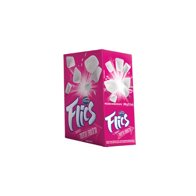 Chicle Arcor Flics Tutti Frutti Blister | Com 12 Unidades