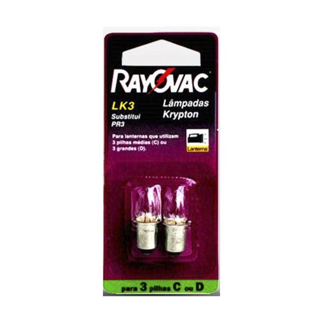 Lâmpada para Lanterna Rayovac Kripton LK3 | Com 2 Unidades