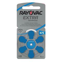 Pilha Rayovac Auditiva Extra Advanced Tamanho 675 | Com 6 Unidades