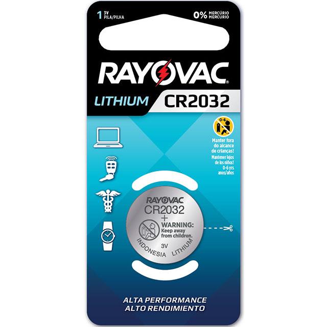 Bateria Rayovac Eletronic | Ref: Cr2032